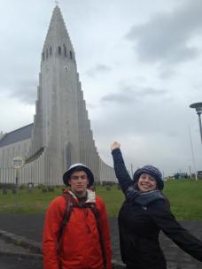 My Brother and I in Iceland